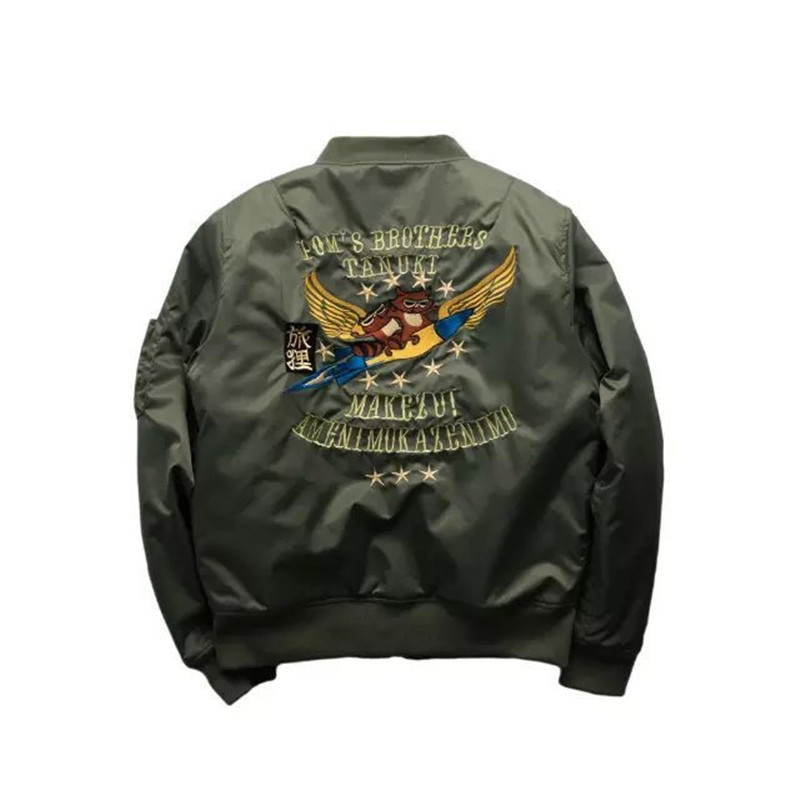 Winter Fashoin Mens MA1 Bomber Jacket USA Air Force Pilots Jacket Solid Loose Thicken Baseball Jacket Plus Size S-3XL Z1219