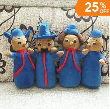 Atacado - In The Night Garden Toy Plush o Pontipines o Wottingers suave figura bonecas presentes de natal brinquedos 8 pçs/set(China (Mainland))