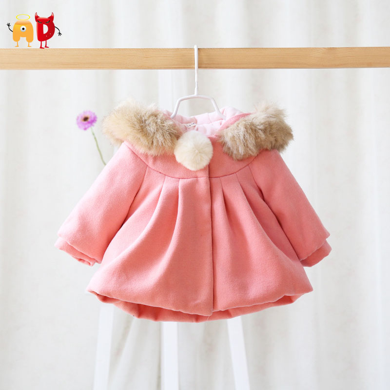 AD 5pcs/lot Thick Fleece Baby Girls Coat Quality Warm Well Design Thermal Babys Hooded Jackets Formal Outwear Winter 95% Cotton<br><br>Aliexpress