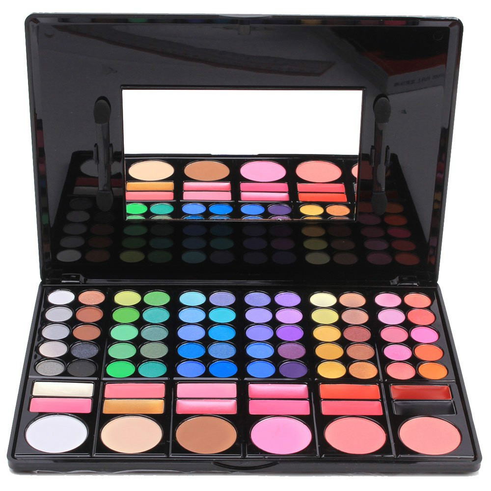 Shimmer Eyeshadow Palette 1 pieces 78Color Wet & Dry Shadow Eyeshadow Makeup GZ1008(China (Mainland))