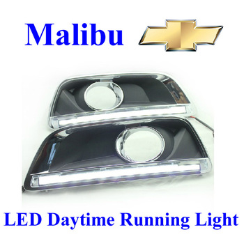 Top Quality!! Malibu 2012 2013 Chevrolet Daytime Running Lights LED Daylight DRL Auto Car DRL Fog Lamp Free Shiping Via HK Post