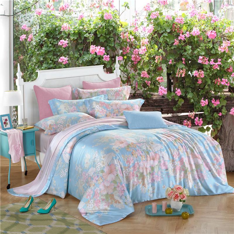 Online kopen wholesale blauwe bloemen dekbed uit china blauwe bloemen dekbed groothandel - Zachte dekbed ...