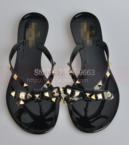 Free Shipping Designer Brands Warren v flip  sandals flat heel rivets color block <br><br>Aliexpress