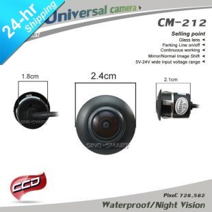 In Stock Wholesale High Quality HD CCD Universal Car Parking Reversing Camera Night Vision Waterproof with 18.5mm Hole  4pcs/Lot