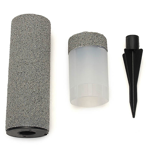 Hot Solar Power Stone Pillar LED Lights Garden Lawn Pathway Outdoor Decor Lamp(China (Mainland))