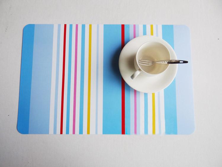 7 style colorful Pattern PVC dining table placemat jantar set napperon coaster bowl pad table mat table cloth pad slip-resistant(China (Mainland))