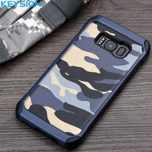 Buy KEYSION Case Samsung Galaxy S8 S8 Plus G950 G955 Army Camo Camouflage Pattern PC+TPU 2 in1 Anti-knock Protective Back Cover for $5.60 in AliExpress store