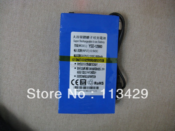 Free  New Super DC 12V 9000mAh Rechargeable Lithium-ion Battery Pack For CCTV Camera YSD-12900