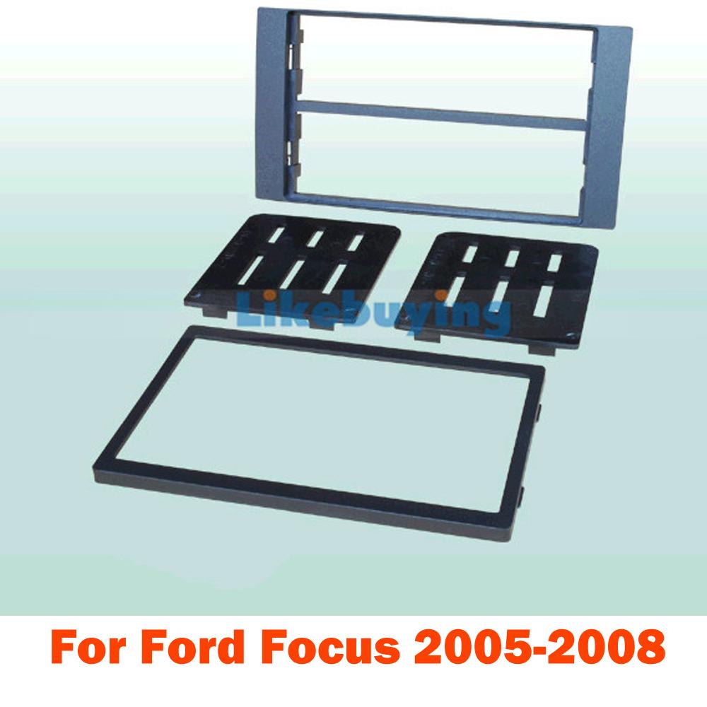 2 Din Car Fascia Panel / Audio Panel Frame / Car Dash Frame Kitr For Ford Focus 2005 2006 2007 2008 Retail / Pcs Free Shipping(China (Mainland))