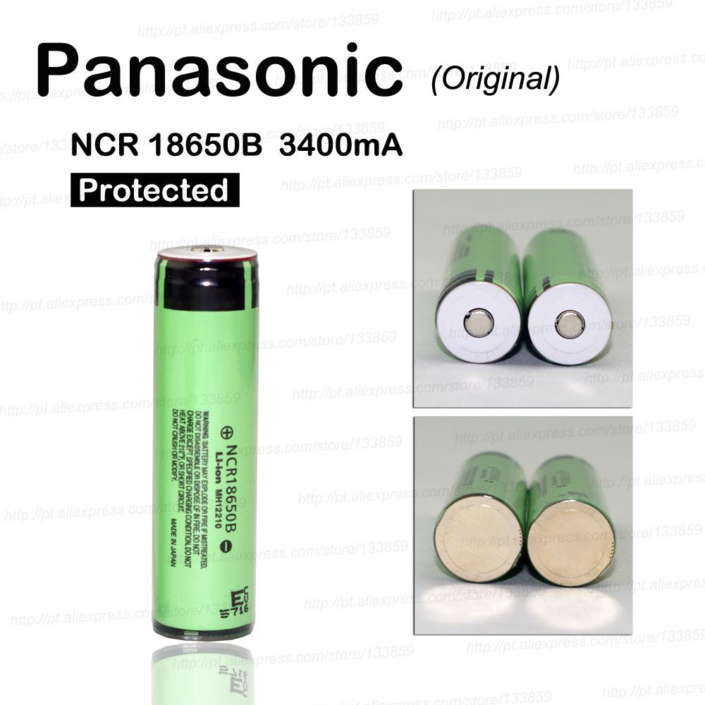 2016 100% 3PCS new original 18,650 mA 34003.7 V lithium ion Rechargebale PCB protection for Panasonic Free Shipping(China (Mainland))