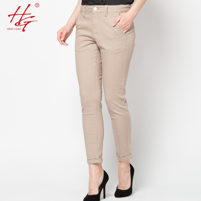 Amazing  Womens Leggings Ladies Basic Khaki Trouser Pants Bottoms  EBay