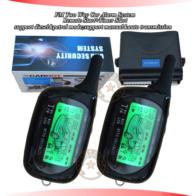 Classical Two Way Car Alarm System Long Distance Remote
