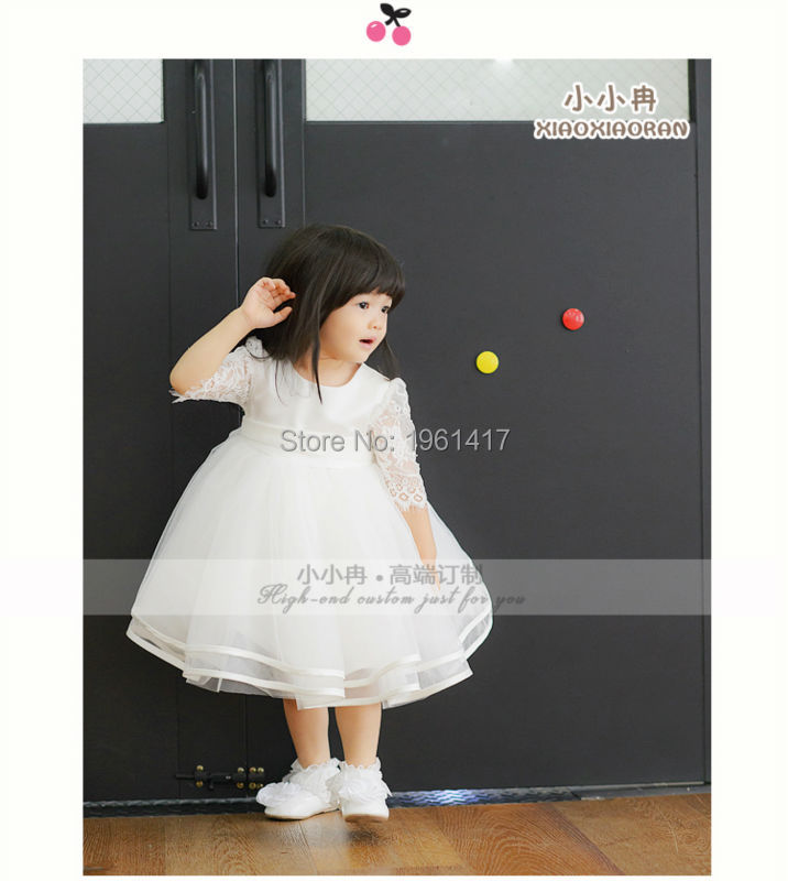 2016 Elegant Baby-girls Lace Dress Baby Party Formal Can Customized - My Handmade store