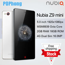 ZTE Nubia Z9 Mini 2GB FDD LTE 5 inch Qualcomm Snapdragon 615 Octa Core Android 5.0 Smartphone 16.0mp Camera