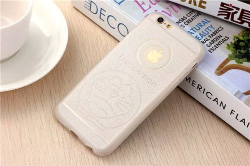 Brand new 100% hot Japan Doraemon Cell Phone Case for iPhone 6 4.7 inch glitter phone case soft tpu case(China (Mainland))