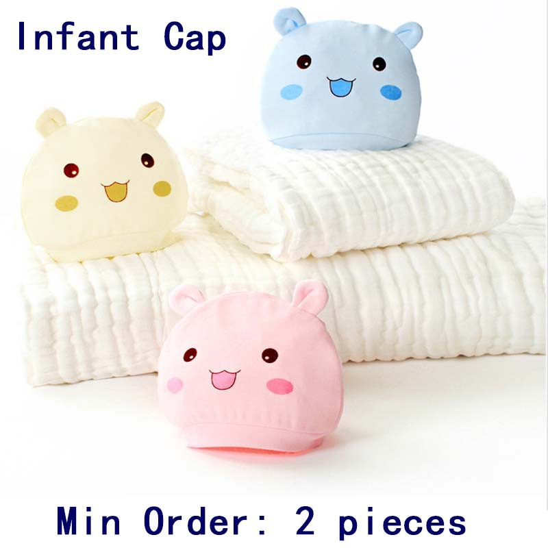 0-6 months baby hat baby cap infant cap cotton infant hats skull caps toddler boys girls gift min order 2 pieces(China (Mainland))