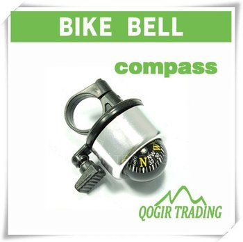 Bike Cycling Bicycle Ring Bell with Compass Ball Silver LY-6029
