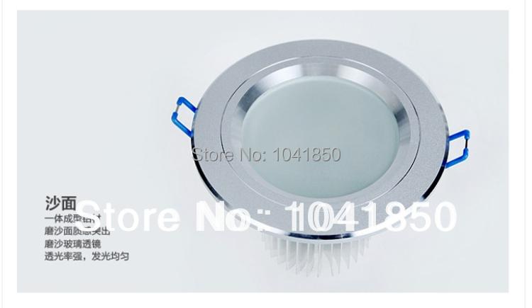 "Free shipping LED Ceiling light 2.5"", SMD5730 10PCS 560lm LED energy saving 5W spotlight LED down light open hole 8cm AC85-265v(China (Mainland))"