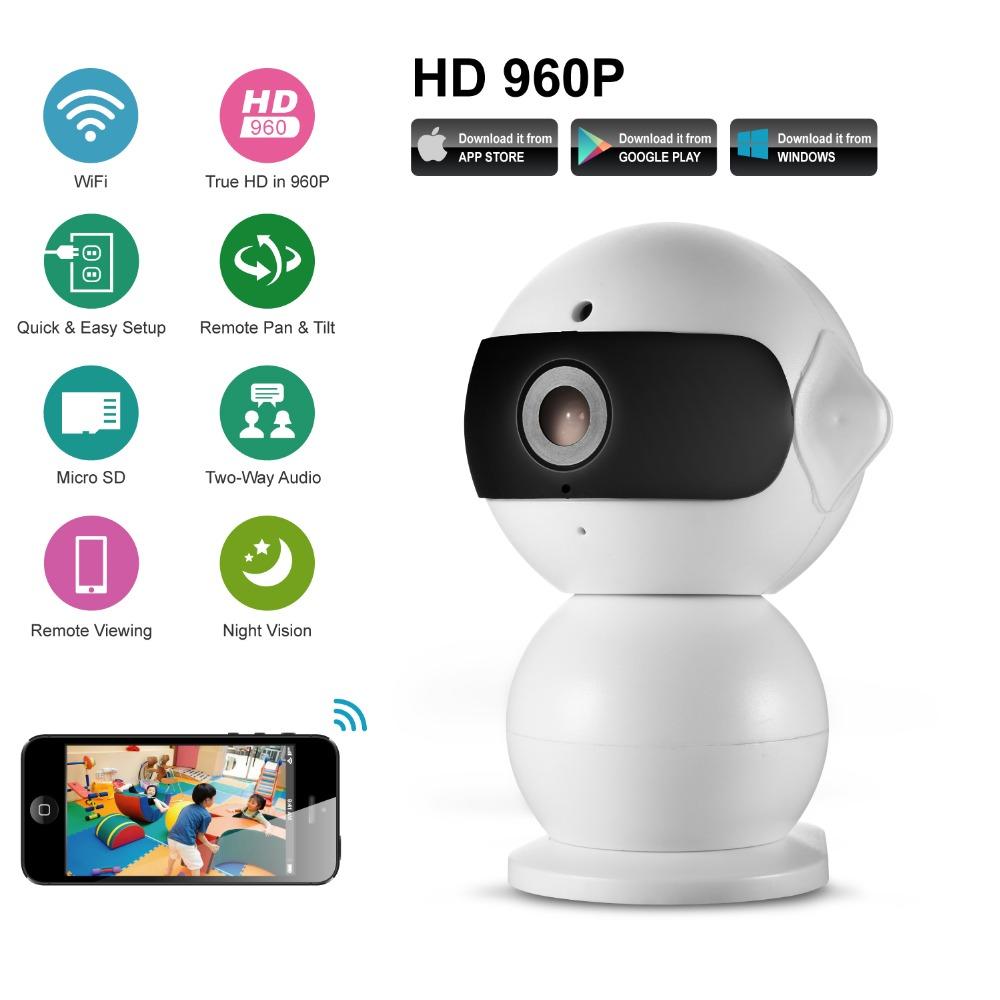 SANNCE 960P HD Alarm P2P Hidden Robot IP Camera Wireless Wifi Pan/Tilt and Two Way Audio ONVIF 1.3MP Baby Monitor(China (Mainland))