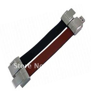 genuine 2GB/4GB/8GB/16GB/32GB usb drive pen drive usb flash drive memory belt leather metal Free shipping wholesale 10pcs/lot