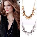 Brand Style Fashion Designer Short Design Gold Silver Spike Cluster Pendant Renegade Chain Necklace