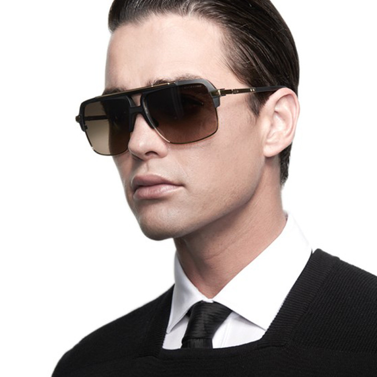 461ae4016c Square Frame Mens Sun Glasses Fashion Reflected Mirror Sunglasses Vintage  Big Glasses Super Star .