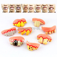 free shipping novelty items halloween props wholesale funny teeth,prank denture sets,April Fool's Day toys,100pcs/lot