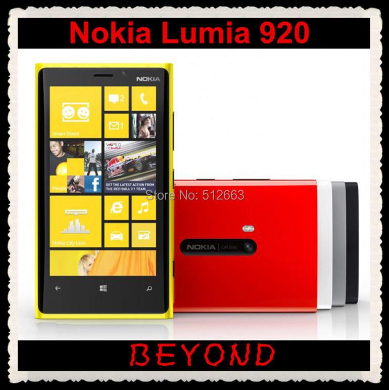 Nokia Lumia 920 Unlocked GSM 3G&4G Windows Mobile Phone WIFI GPS 4.5'' 8MP 32GB RM-820 AT&T freeshipping(China (Mainland))