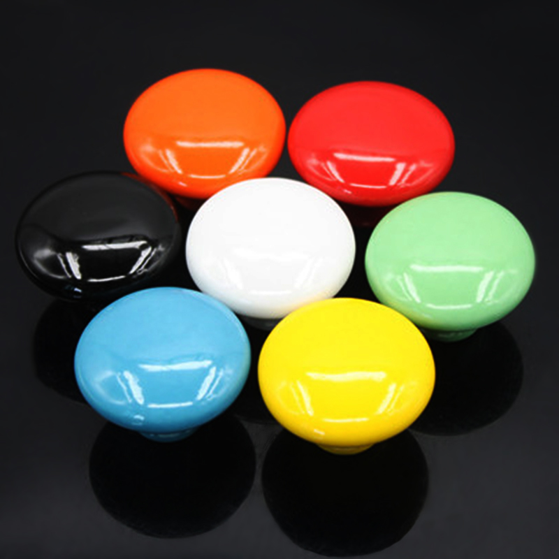 Door Handle Ceramic Door Handle 7 colors Single hole wholesale Good quality New Arrival Drawer Handle(China (Mainland))