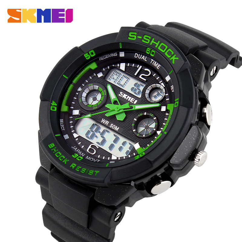 2015 Men's Quartz Digital Watch Men Sports Watches Relogio Masculino SKMEI S Shock Relojes LED Military Waterproof Wristwatches(China (Mainland))