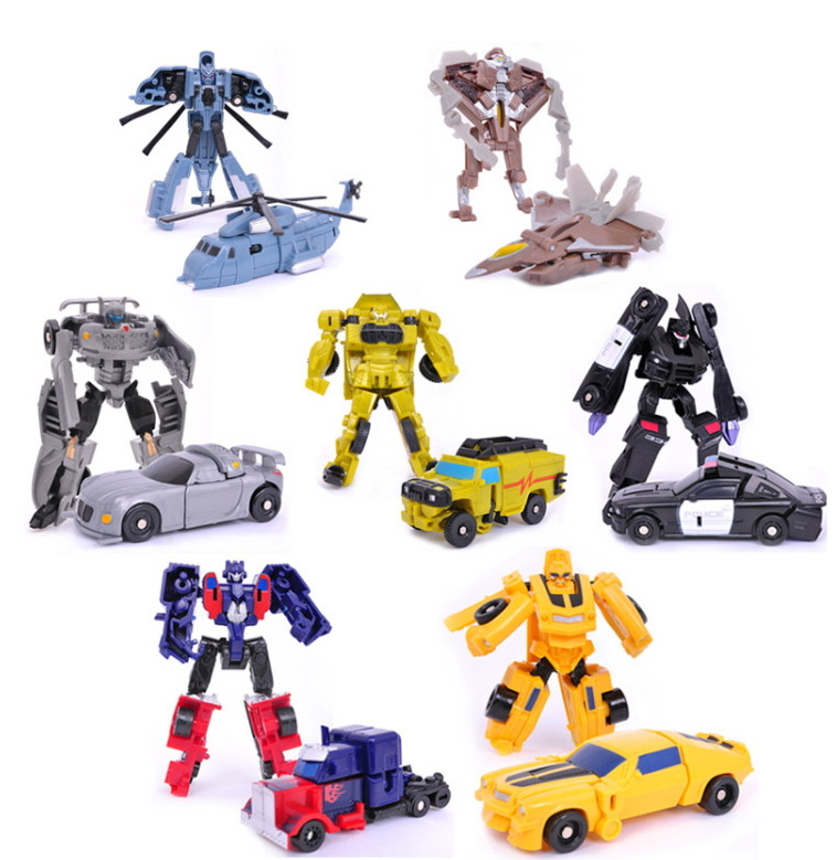 7pcs/lot  Sideswipe Robot  DIY educational car kit action figures avenger marvel boys toys set brinquedos model for the children