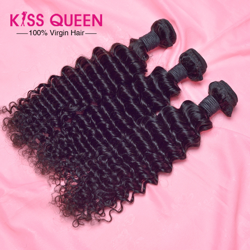 Big Sale 6A Dyeable malaysian deep wave virgin hair 3 pcs lot free shipping malaysian virgin hair deep wave malaysian curly hair(China (Mainland))