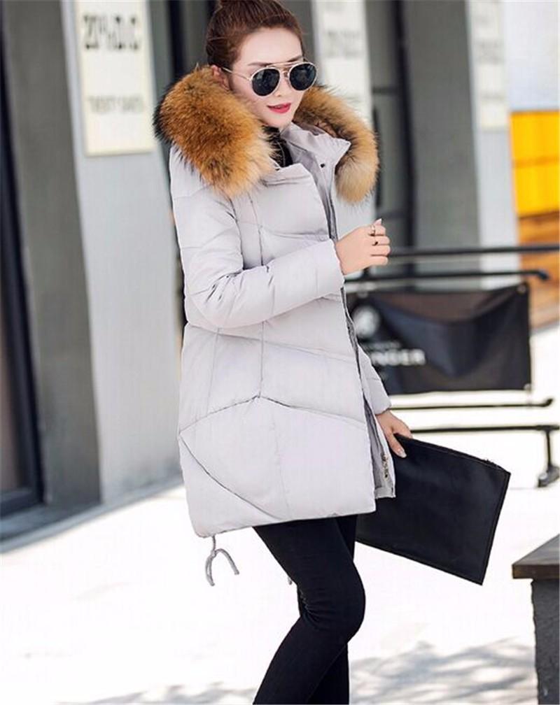 PAZEESHSE New Coat Zipper Slim Down Jacket Hooded Women's Winter Jacket Solid Casual Female Coats Fashion Fur Collar Parka Women