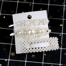 2-6pcs/lot Elegant Pearl Hair Pins Geometric Hair Clips Barrettes Headwear Hairpins Headbands Female Hair Ornaments Accessories(China)