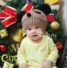 Children Baby Kids Hat Cartoon Winter Hat Panda Ball Knitted Crochet Beanie Cap  (China (Mainland))