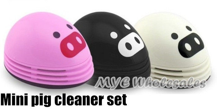 novelty gift mini pig cleaner, mini vacuum cleaner set for desktop and keyboard cleanning(China (Mainland))