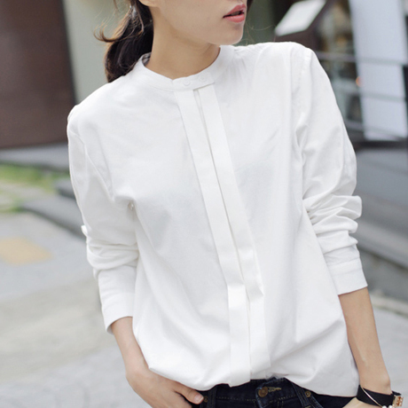 Ladies White Cotton Shirt
