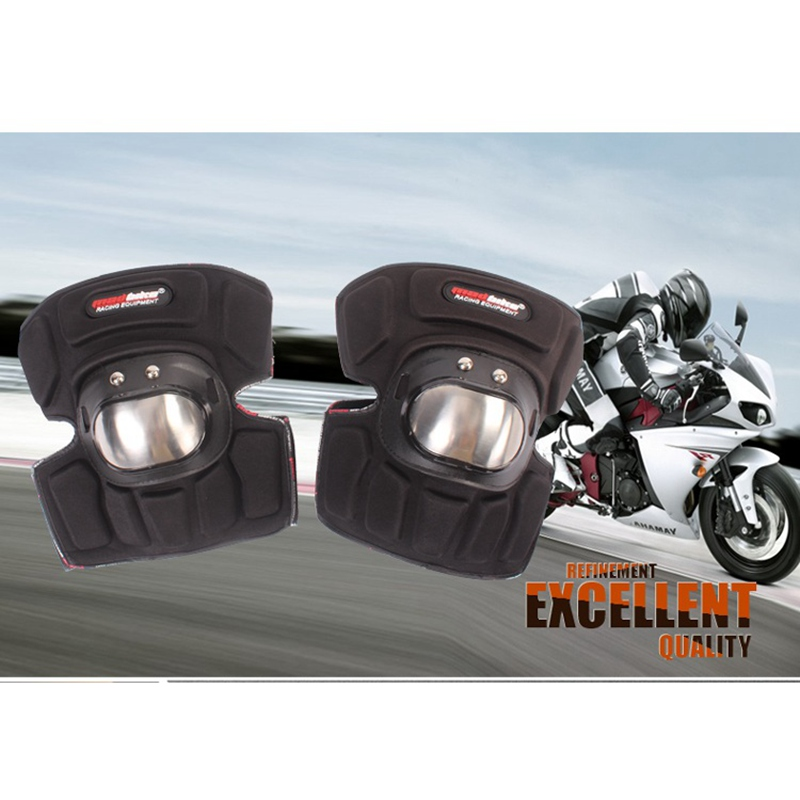 1 Pair Motorcycle Stainless Steel Racing Rider Kneepad Knee Pads Protective Guard Outdoor Sport Tactical Protection