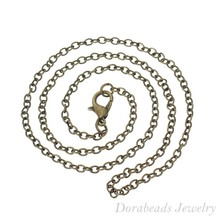 """Buy DoreenBeads 12 Bronze Tone Lobster Clasp Link Chain Necklaces 2x3mm 16"""", B14103 for $2.14 in AliExpress store"""