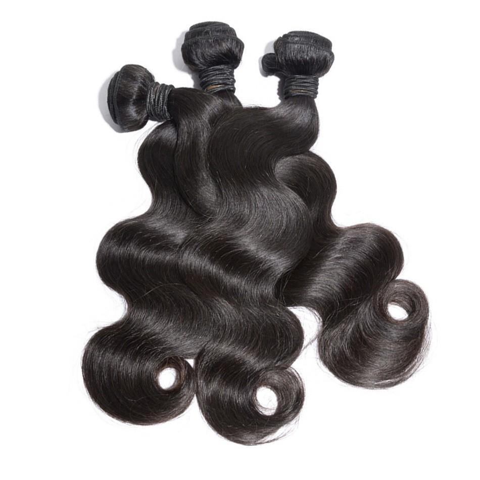 "Фотография 5A Unprocessed Cabelo Humano100% Natual Cabelo 100g/bundle 26"" Body Wave tangle free Beautiful Weave Indiano Cabelo"