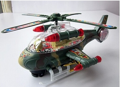 Electric air plane Toy Educational detachable helicopter, flashing Led lights toy gift w6509(China (Mainland))