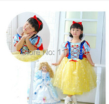 girl princess snow white halloween costumes for girl cosplay cute performance clothes cartoon dress party clothing