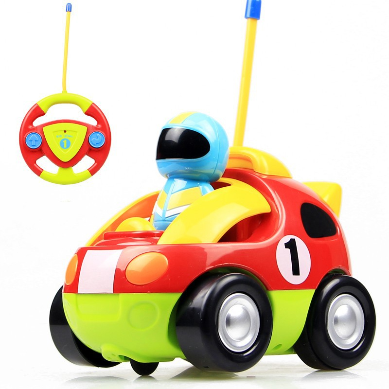 Cartoon Remote Control Electric Toy Car RC Car High Speed Cute Musical For Kids