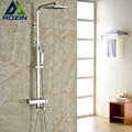 Brand New Chrome Thermostatic Water Shower Faucet Set Bath Tub Shower Mixers with Handshower 8 Rain