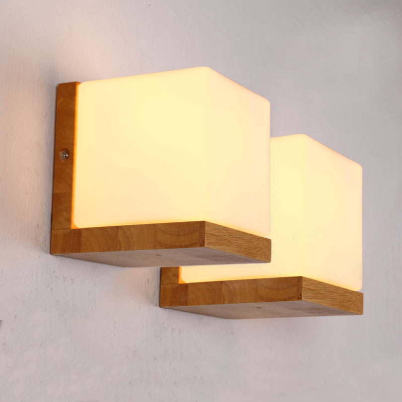 Led wall lamp gd traders wholesale deal alerts and product sourcing minilism solid wood wall lamp frosted glass ikea japanese oak wood wall lights home bedroom sugar aloadofball Images