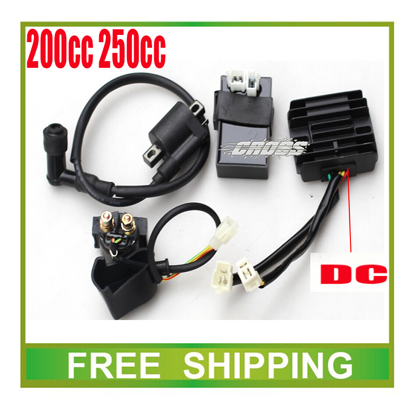 zongshen loncin 250cc cdi+ignition coil+ relay+dc rectifier 150cc 200cc motorcycle dirt bike atv quad accessories free shipping(China (Mainland))