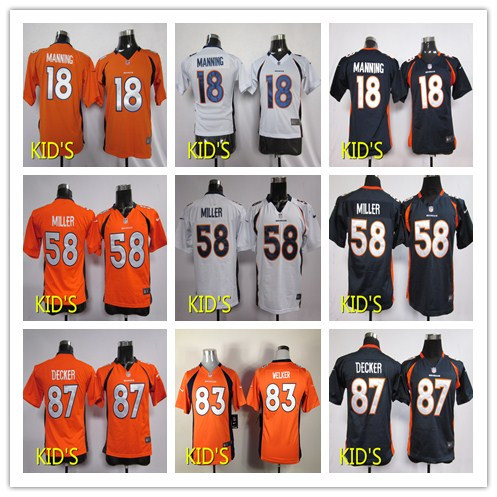 New high quality free shipping Denver broncos in 2016 18 # # 87 # # 58 children's clothes,The western partition(China (Mainland))