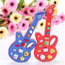 Electronic Guitar Toy Nursery Rhyme Music Children Baby Kids Toy Gift  1PA6(China (Mainland))