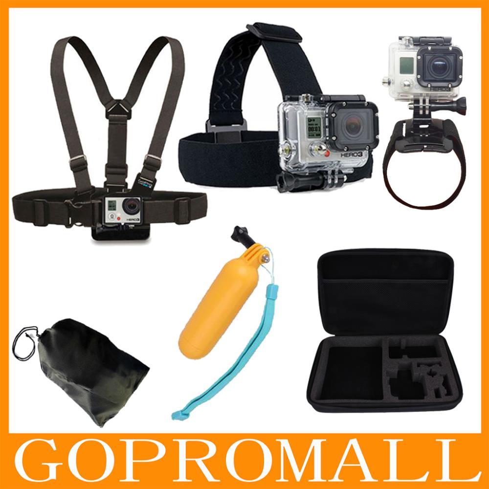 Go Pro Sj4000 Accessories Head Belt+Chest Strap+Wrist Belt+Bag+Floating Hand