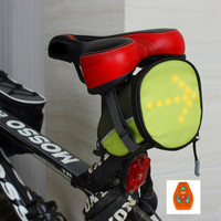 2014 New Ariival Outdoor Cycling Mountain Bike Bicycle Saddle Bag  LED Rear Bag with LED Indictor Back Seat Tail Pouch Package